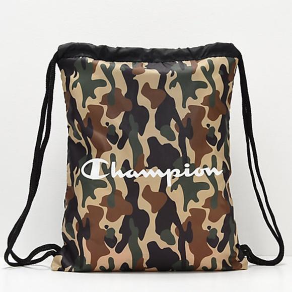 NEW Champion Camo Drawstring Bag Gym Sack 65f30f9ce7bca
